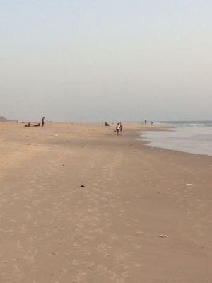 Am Strand von Saint-Louis de Senegal